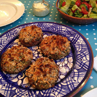Vegetarian Broccoli and Stilton Stuffed Mushrooms for my Nanny