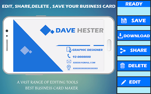 free visiting and business template card maker pro android apps