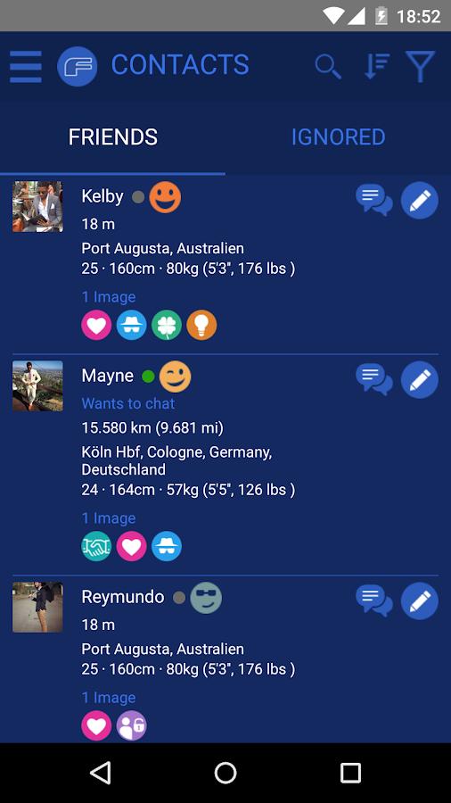 Blue Gay Social App