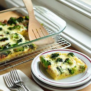 Broccoli & Spaghetti Frittata.