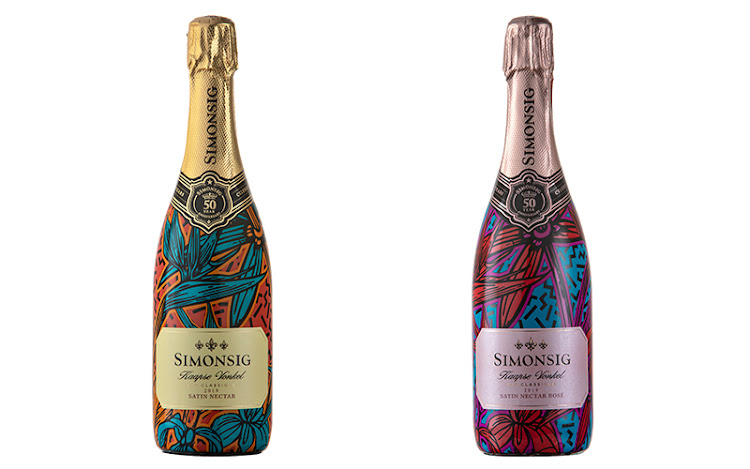 Simonsig Vonkel Satin Nectar and Satin Nectar Rosé.