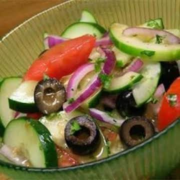 Cucumber Tomato Salad  Zucchini and Black Olives