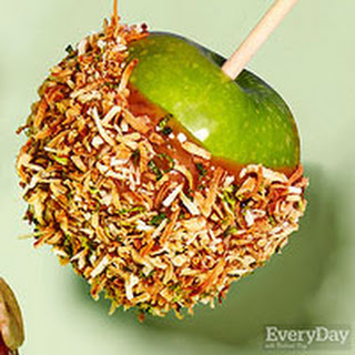 Zesty Coconut Caramel Apples