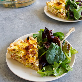 Brussels Sprouts and Spicy Sausage Ricotta Quiche
