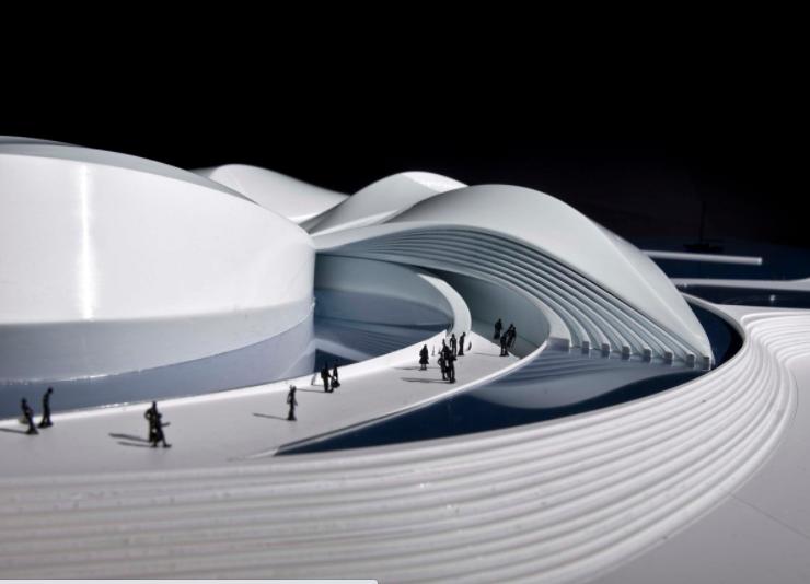 Mô hình xây dựng bằng chất liệu  nhựa