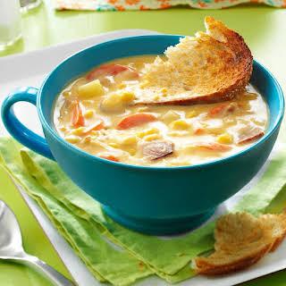 Cheesy Corn Chowder.