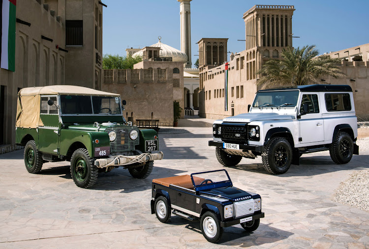 Old and new Land Rover Defenders: A heritage spanning 68 years.
