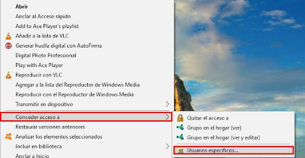compartir carpetas en red en windows 10