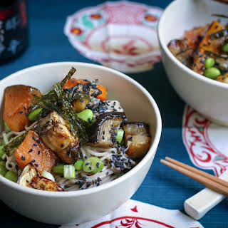 Miso Roasted Eggplant, Pumpkin and Soba Salad.