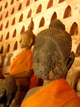 Photo: Buddha image damaged during the 1828 Siamese-Lao war (Wat Si Saket, Vientiane)