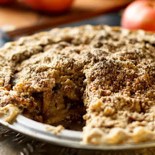 Dairy and Gluten Free Apple Crumble Pie.