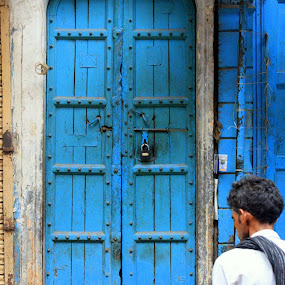 Street Blues by Puneet Dhingra - City,  Street & Park  Street Scenes ( #delhi #india #blue #people #places #street #travel )