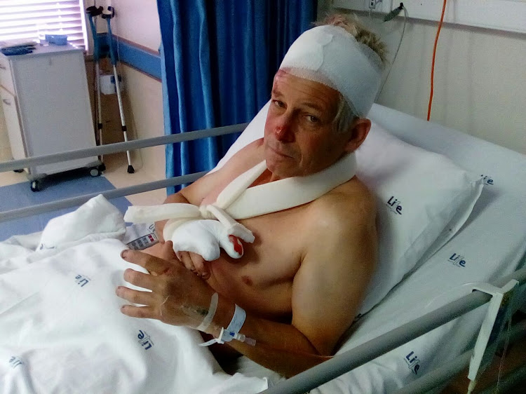 Graham Munton, 57, was attacked while cycling in Walmer on Saturday morning.