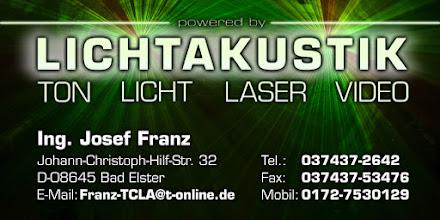 Photo: Kontaktdaten: Ing. Josef Franz Johann-Christoph-Hilf-Str. 32 in 08645 Bad Elster mail@lichtakustik.de 0172-7530129
