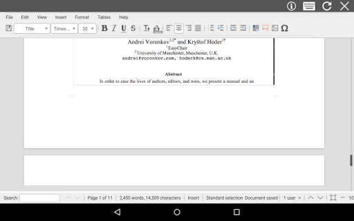 AndroDOC editor for Doc & Word screenshots 8
