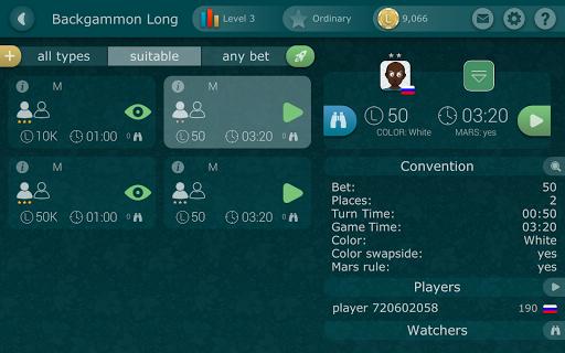 Backgammon LiveGames - live free online game  captures d'u00e9cran 15