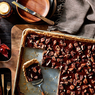 Chocolate-Pecan Sheet Pie With Molasses