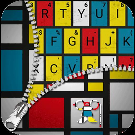 Mondrian Mordern Art Fashion Keyboard Theme (app)