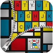 Mondrian Mordern Art Fashion Keyboard Theme