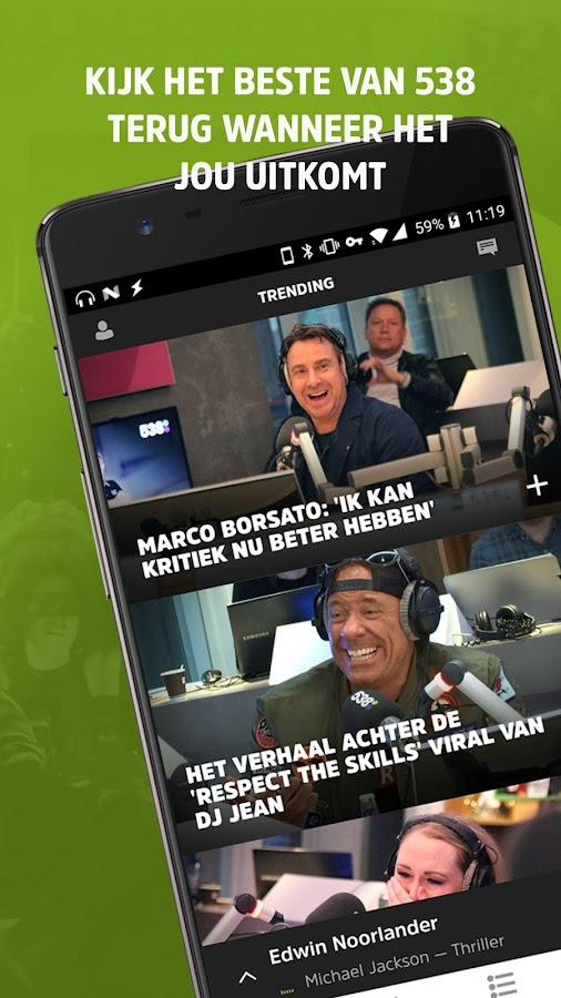 Radio 538: screenshot