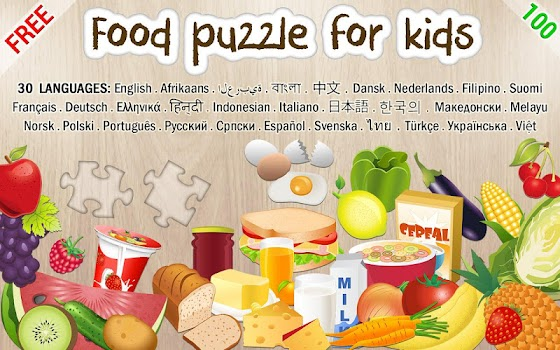 Food puzzle for kids