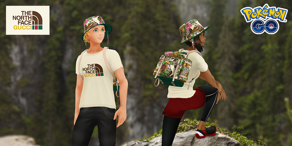 Avatar items from The North Face x Gucci Collection are coming to Pokémon GO!