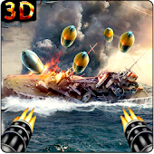 Gunner Modern Navy War : Pirates Shoot Battle