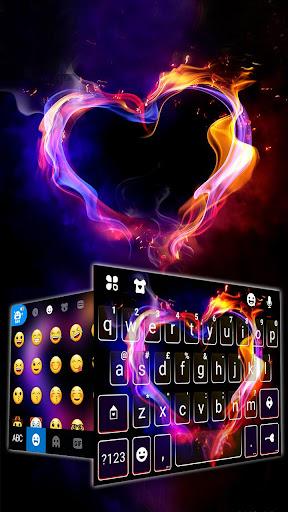 Flaming Heart Keyboard Theme screenshot 3