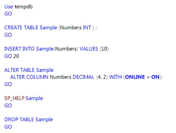 T-SQL code in SQL Server 2016