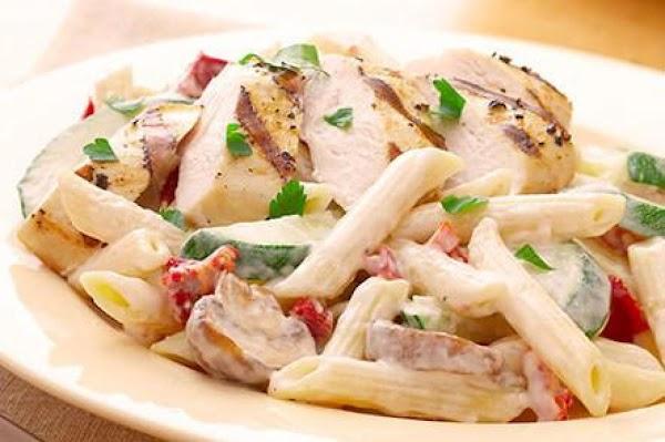 Penne W/ Chicken In Garlic Cream Sauce Recipe