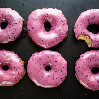Bourbon Blueberry Basil Donuts