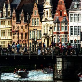 Gand by Riccardo Lazzari - City,  Street & Park  Vistas ( h.d., colors, gand, belgium, architettura )