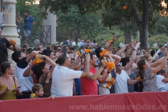 La Gran Batalla en la Alameda. Batalla de flores.