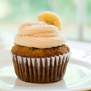 Banana Cupcakes with Caramel Buttercream Frosting