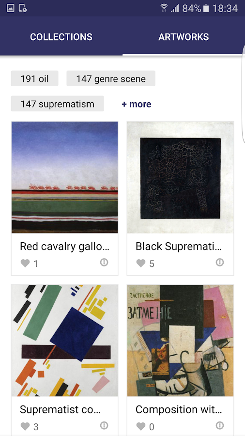 Malevich: artworks and stories- screenshot