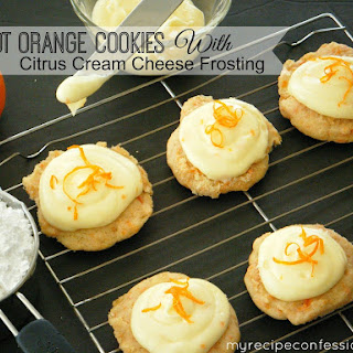 Carrot Orange Cookies With Citrus Cream Cheese Frosting