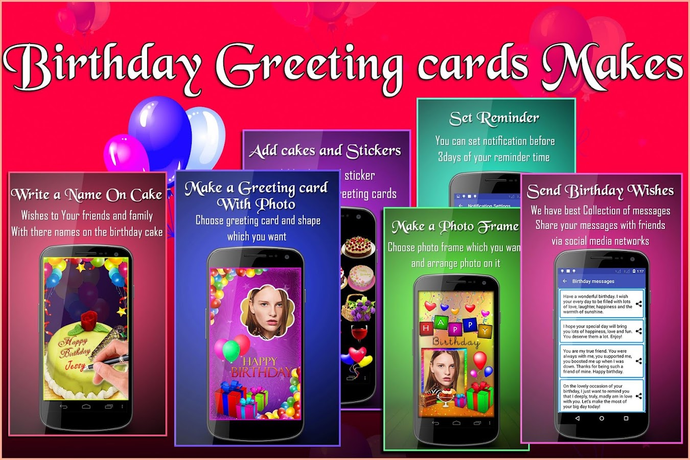 Birthday Greeting Cards Maker photo frames cakes Android Apps – Birthday Card with Picture
