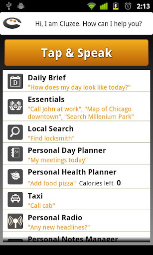 Cluzee Your Personal Assistant screenshot 1