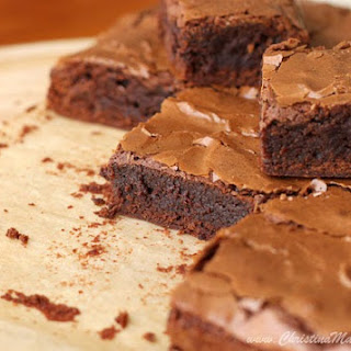 Dark Chocolate Fudge Brownies.