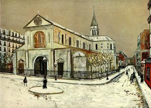 "Photo: Maurice Utrillo, ""Notre Dame de Clignantcourt"" (1913 ca.)"