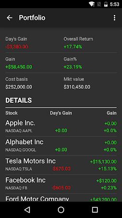 Stocks - Realtime Stock Quotes 2.6.2.2 screenshot 237161