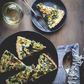 Swiss Chard Tart With Chevre And Leeks.