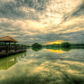 Sunset - Shadow of Cloud by Mohd Siberi Mohd Yusof - Landscapes Sunsets & Sunrises