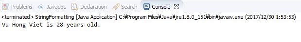 Java - Định dạng chuỗi
