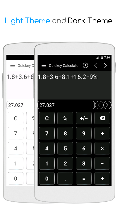 Quickey Multi Calculator Free- screenshot