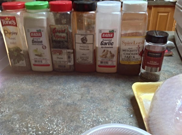 These are the spices I used, you can use what ever you like, the...