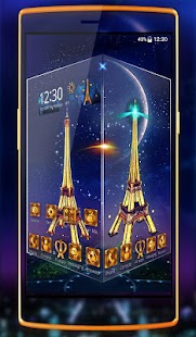 Eiffel Tower Paris 3D theme and Live wallpaper - náhled