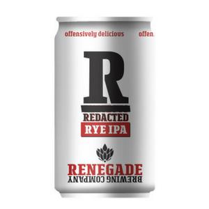 Logo of Renegade Redacted Rye IPA
