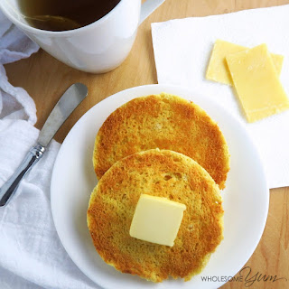 2-Minute Toasted English Muffin (Paleo, Low Carb).