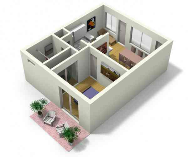 3d small home plan ideas android apps on google play - Thesquare meter tiny house ...